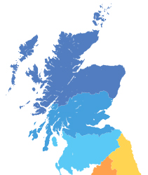 North of Scotland Window Cleaning Contract Map